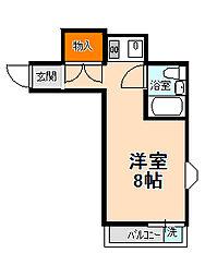 クレストイワセ[3階]の間取り