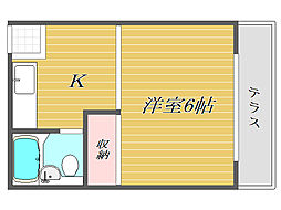 東京都豊島区上池袋1丁目の賃貸アパートの間取り