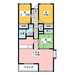 シャトレM[3階]の間取り