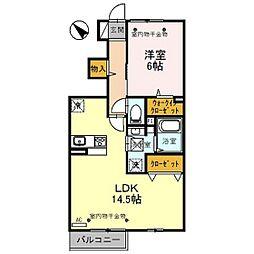 D-room射水市片口[1階]の間取り