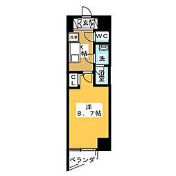エルスタンザ徳川[13階]の間取り
