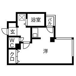 エクセレント和泉町[4階]の間取り