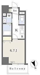 MISTRAL姫路駅前IV 3階1Kの間取り