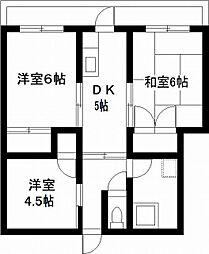 宮崎県宮崎市新別府町の賃貸マンションの間取り
