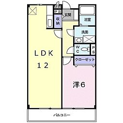 滋賀県愛知郡愛荘町愛知川の賃貸アパートの間取り