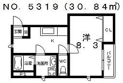 メゾン共立通[302号室号室]の間取り