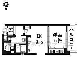 リーガル京都東本願寺前1206[2階]の間取り