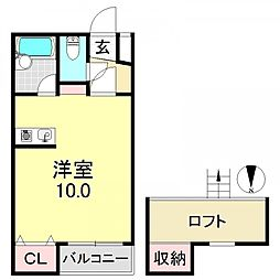エクラ平野[2階]の間取り