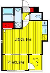 JR京浜東北・根岸線 王子駅 徒歩10分の賃貸マンション 1階1LDKの間取り