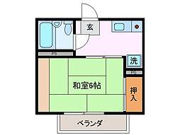 ジュネス千代崎[2階]の間取り