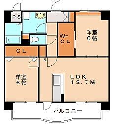 仮)博多区板付マンション[5階]の間取り