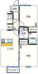 ユニティ−・タウン菜根屋敷[101号室]の間取り