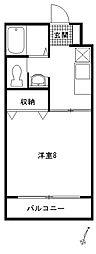 シュロス三福[203号室]の間取り