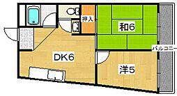 斉藤マンション[4階]の間取り