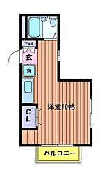 ヴィラフォレスト[3階]の間取り