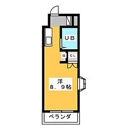 磐田グレイス第1マンション[4階]の間取り