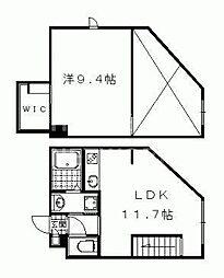 Appartamento上賀茂[308号室号室]の間取り