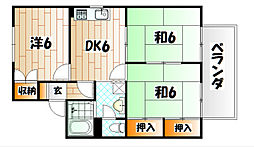ウイング赤坂A棟[2階]の間取り