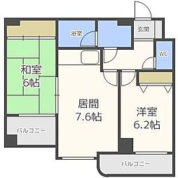 エスティ32[6階]の間取り