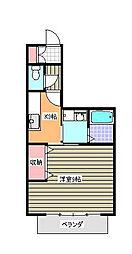 神奈川県伊勢原市高森5丁目の賃貸アパートの間取り