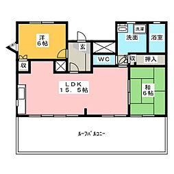 メゾンドボヌ−上名古屋[5階]の間取り