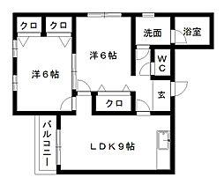 久嶋ハイム[3階]の間取り