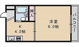 大阪府大阪市阿倍野区阪南町4丁目の賃貸マンションの間取り