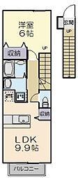 ボニートII[2階]の間取り
