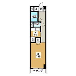 KIND EN III 北館[3階]の間取り