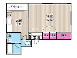 埼玉県上尾市本町2丁目の賃貸マンションの間取り
