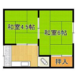 京井文化[1階]の間取り