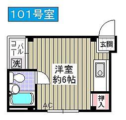 泉尾ハイム[101号室]の間取り