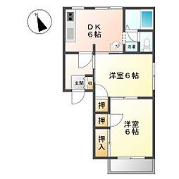 ハイムフロンティア[2階]の間取り