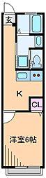 ハイツ宮向[2階]の間取り