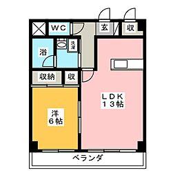 コンフォール・ピア[1階]の間取り