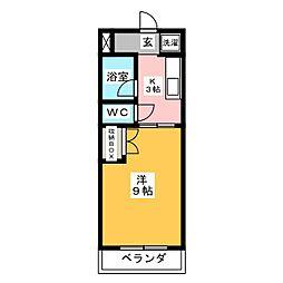マンションKasuga[2階]の間取り