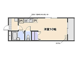 ポム・ド・ピン中央[1階]の間取り