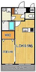 SAKURA FORET 3階1LDKの間取り