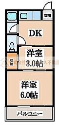 大阪府堺市堺区向陵中町6丁の賃貸マンションの間取り