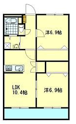 TNマンションV[2階]の間取り