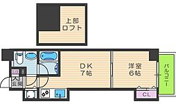 T'sSQUARE天神橋[7階]の間取り