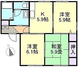 サンホーム日吉D棟[1階]の間取り