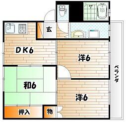 グレイスK B棟[2階]の間取り