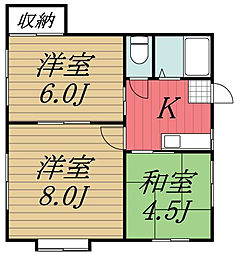 第一宍倉アパート[1階]の間取り
