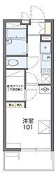 JR片町線(学研都市線) 忍ヶ丘駅 徒歩8分の賃貸マンション 3階1Kの間取り