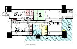 ミリカテラス3街区[4階]の間取り