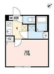 マツドシンデンハッピーハウス[201号室号室]の間取り