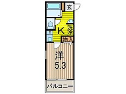 クシェル北戸田[3階]の間取り
