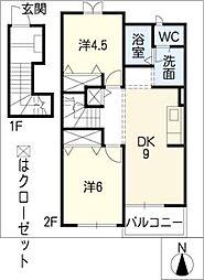 ミールムi[2階]の間取り