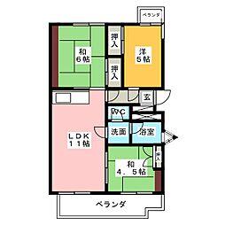 グリーンサイドハウスS棟[1階]の間取り